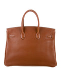 HERMES Birkin Purse 35 CM Beige Sienne Togo Leather Gold Hardware
