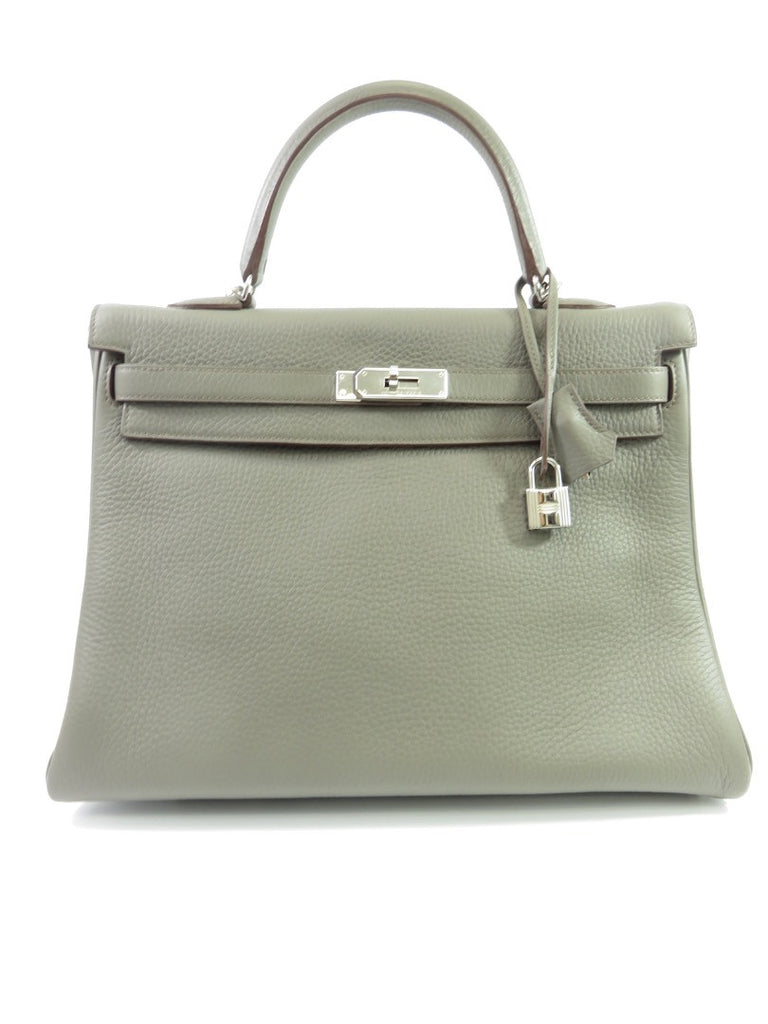 Hermes Kelly 35 CM Gray togo Lorena's WORTH