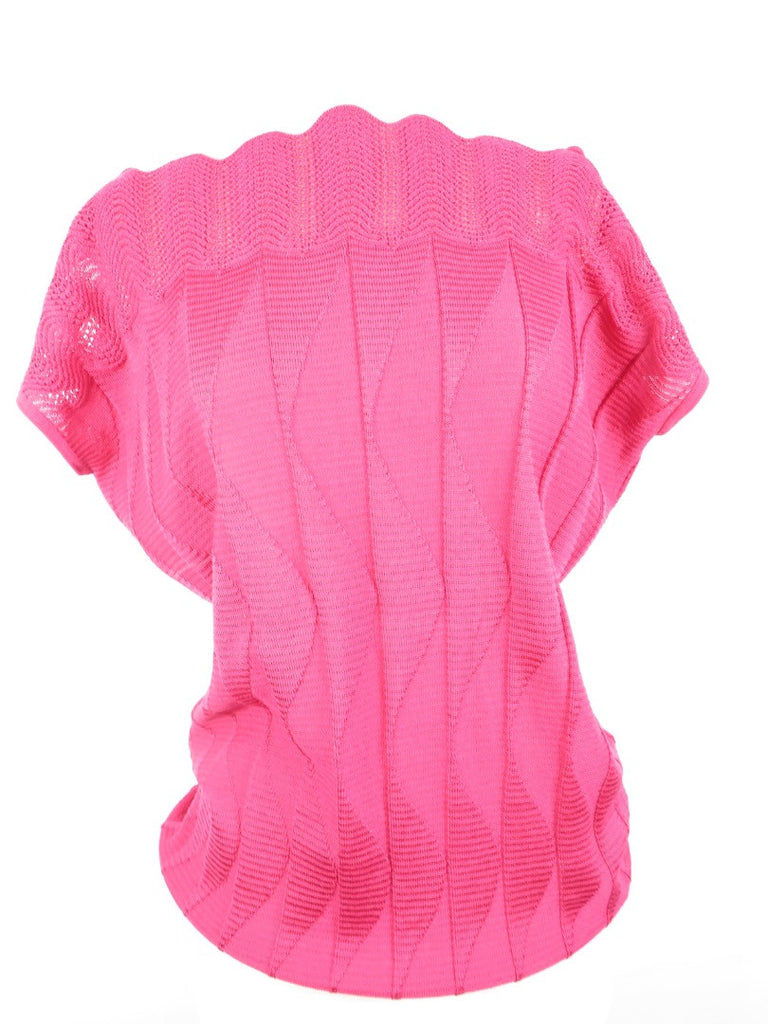 M MISSONI Women Pink Open Sleeve Dolman Knit Blouse Top Shirt Size 6