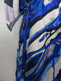 EMILIO PUCCI Women Open Sleeve Kaftan Dolman Draw String Waist Dress Top Cover 8