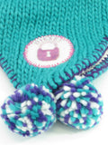 DIESEL Girls Women Aqua Purple White Pink Pompom Hat Ear Cover Size 1