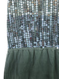 FLOWERS BY ZOE Kids Girls Grey Ombre Sequins Dress 5-6