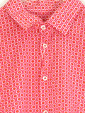 NEW! MOSCHINO Men Pink Orange Print Slim Fit Long Sleeve Button Down Shirt Size XXL