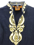 TORY BURCH Kids Girls Yellow Blue White Yellow Tunic Shirt Size 5