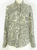 J CREW Women The Perfect Shirt Light Pink Grey Island Paisley Button Down Top Shirt Size 0