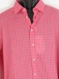 NEW! MOSCHINO Men Red White Slim Fit Long Sleeve Button Down Top Shirt Size XXL