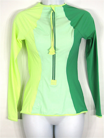 LULULEMON ATHLETICA Women Yellow Green Long Sleeve Sports Wear Top Sweatshirt 8