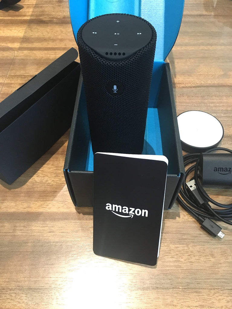 NEW! Amazon Tap - Alexa-Enabled Portable Bluetooth Speaker With Box Cables
