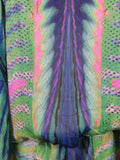 ROBERTO CAVALLI Women Drop Waist Multicolor Silk Tunic Blouse Size 38