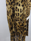 DOLCE & GABBANA Women Animal Print Twin Set Long Cardigan & Top Size 46 IT