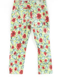 BLUGIRL Jeans Women Multi Color Floral Print Cropped Pink Crystals Pants Jeans