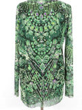 JEAN PAUL GAULTIER Women Twin Set Cardigan and Top Greens Knit Size L