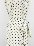 TORY BURCH Women White Indigo Polka Dots Sleeveless Dress Size 6