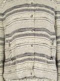IRO Women Off White Black Stripes Tweed Lizzie Jacket Size 3