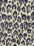 TORY BURCH Women Black Animal Print Beads Long Sleeve Blouse Top S