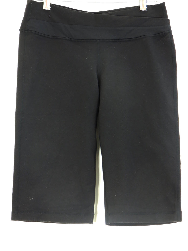 LULULEMON ATHLETICA  Women Black Athletic Sports Wear Capri Pants Size 10