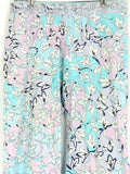 EMILIO PUCCI Women Blue Aqua White Purple Floral Print Cotton Lounge Pants 8