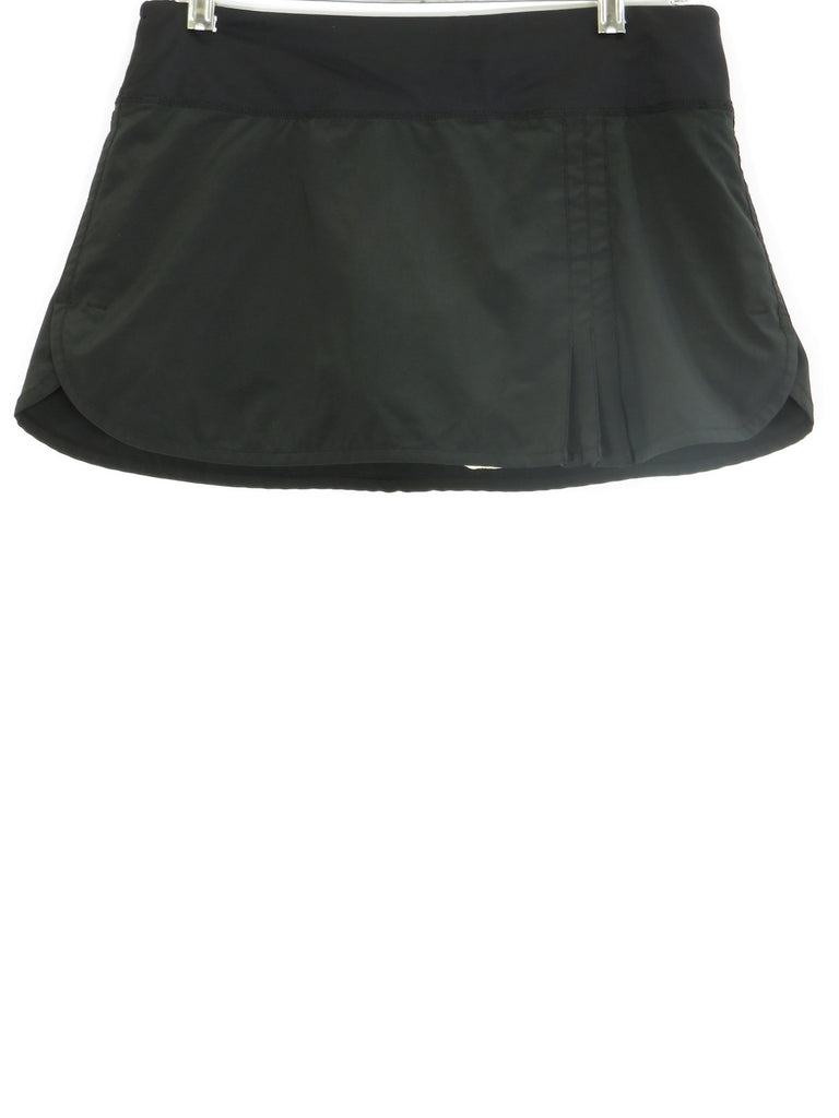 LULULEMON ATHLETICA Women Black Athletic Sports Wear Skirt Skort Pleats 6