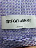 GIORGIO ARMANI Men Purple Silver Light Blue Silk Neck Tie Accessory