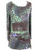 EMILIO PUCCI Women Long Sleeve Top Blouse Shirt Animal Print
