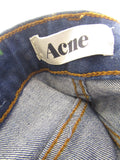 ACNE Women Blue Medium Wash Skinny Straight Leg Jeans Size 27