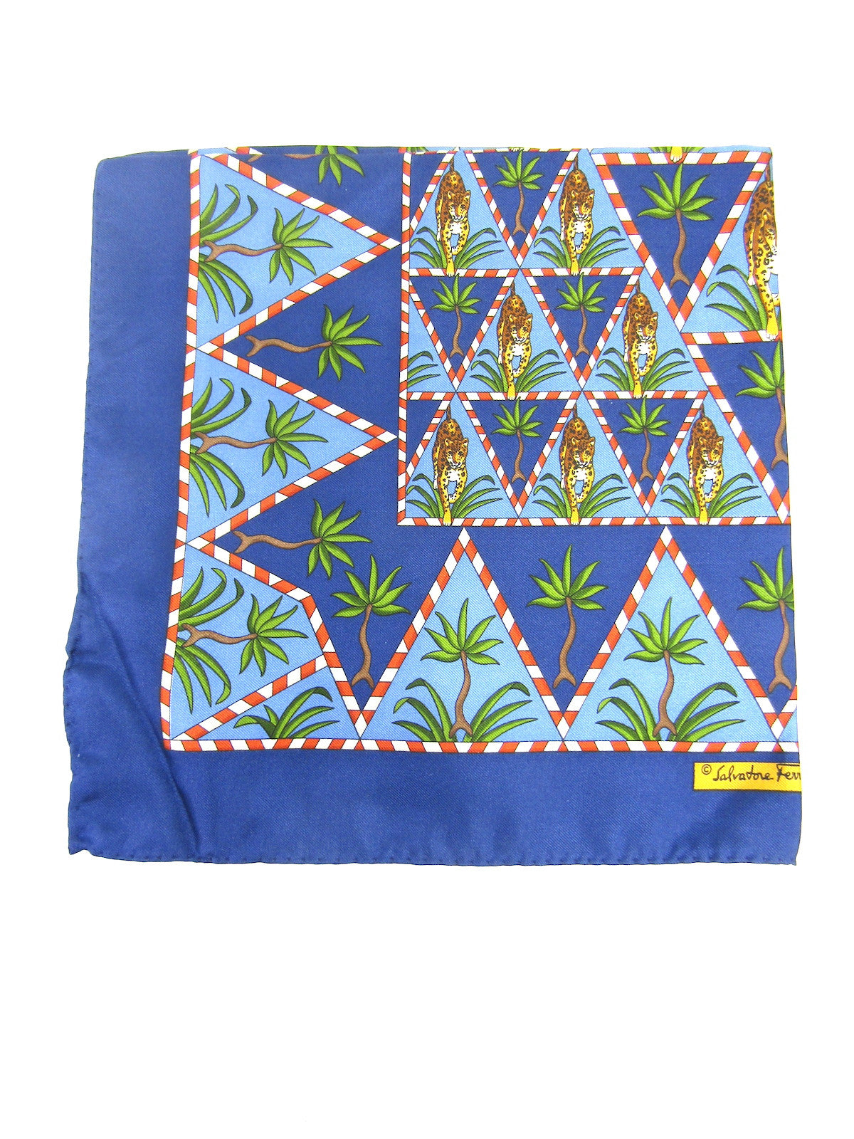 34f9b0c86768b ... Blue Multi Color Silk Handkerchief Accessory Pocket Square. Salvatore  Ferragamo Lorena's Worth