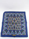 NEW! SALVATORE FERRAGAMO Women Men Blue Multi Color Silk Handkerchief Accessory Pocket Square
