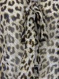 MOSCHINO Women Brown Leopard Print Sleeveless Ribbon Tie Blouse Top Shirt 6