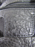 MIA BAG Women Black Silver Lips Studs Embellishments Shoulder Hand Bag Purse Tote