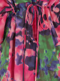 ALICE AND OLIVIA Women Multi Color Kimono V-Neck 3/4 Sleeves Blouse Top XS