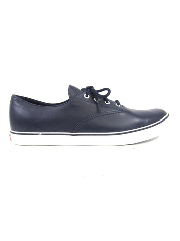BALLY Men Blue Leather Lace Up Low Top Sneakers Size 10.5