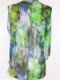 ROBERT RODRIGUEZ Women Multicolor Sheer Sleeveless Shirt Blouse Top Size 6