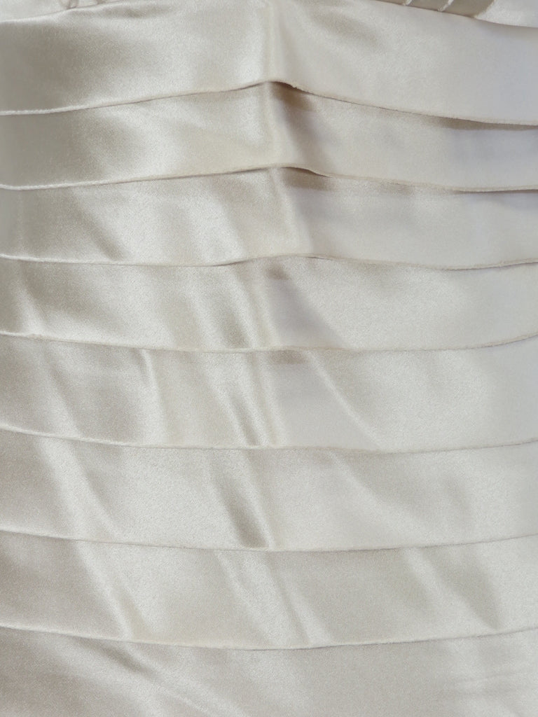 White Ivory Halter Dress BCBG