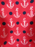 NEW! SPERRY Kids Girls Red Blue Anchor Two Piece Swim Suit Size XS