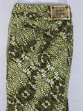 NEW! JUST CAVALLI Women Multicolor Print Jeans Denim Skirt Fitted Size 38
