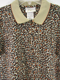 NEW! M SPORTFOLIO Women Multi Color Animal Print Sports Top Shirt Size XS