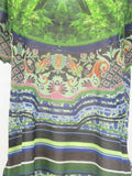 CLOVER CANYON Women Multi Color Short Sleeve Blouse Top Shirt Size S