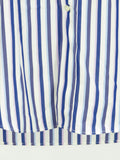ETRO MILANO Men White Blue Purple Stripes Long Sleeve Button Down Shirt Size 42