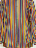 ETRO MILANO Men Multi Color Iconic Stripes Long Sleeve Shirt Size 41