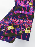 LOUIS VUITTON Women Accessories Pink Multi Color Silk Bandeau Scarf
