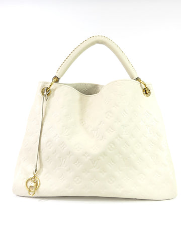 LOUIS VUITTON Women Off White Monogram Empreinte Leather Artsy Bag Purse M93449
