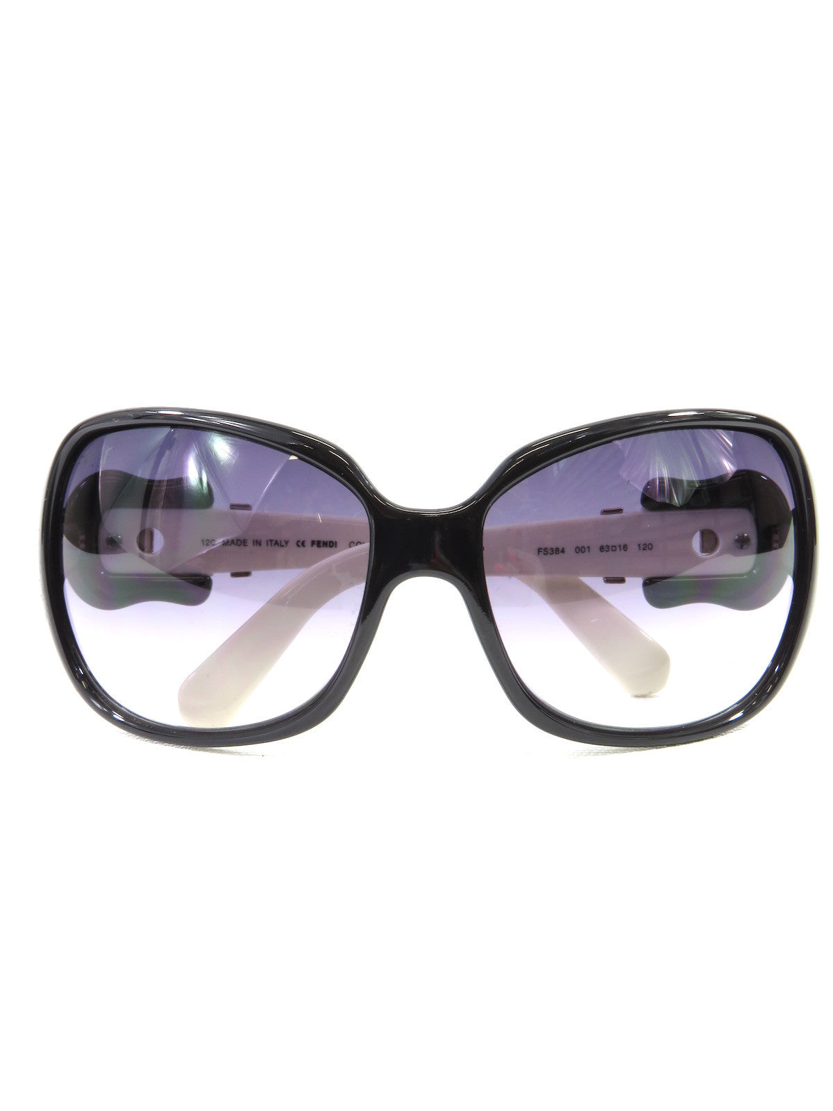 f294ae40a883 NEW! FENDI Women Black Off White Iconic Buckle Oversized Square Sungla