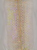 NEW! CACHE Women White Gold Accents Studs Tank Top Shirt Size S