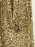 TUCKER Women Browns Animal Print Dress 3/4 Sleeves Round Neck S