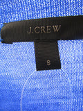 NEW! J. CREW Women Blue Wool Sweater Top Shirt Size S