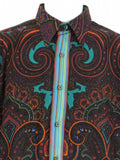 ROBERT GRAHAM Men Multi Color Paisley Pattern Button Down Shirt Size M