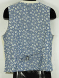 BARQUE Men Multi Color Button Front Floral Print Back Linen Vest Size L