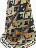 EMILIO PUCCI FIRENZE Women Men Multi Color Diamond Pattern Handkerchief Accessory