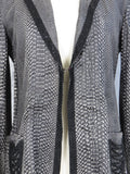 NEW! KIPPYS Women Black Leather Jackets Crystals Ropes Texture 8 M