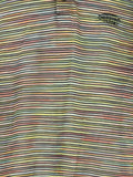 MISSONI SPORT Men Multi Color Iconic Patern Short Sleeve Collar Shirt Size M